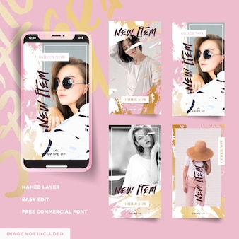 Fashion promo instagram stories collection
