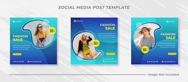 소셜 미디어 게시물 템플릿 패션 판매 배너