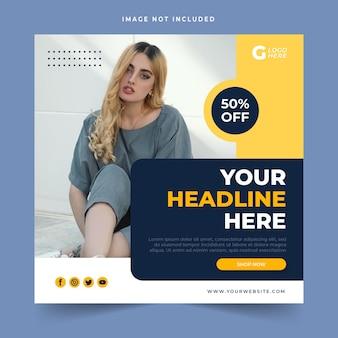 Fashion sale banner or square flyer for social media post