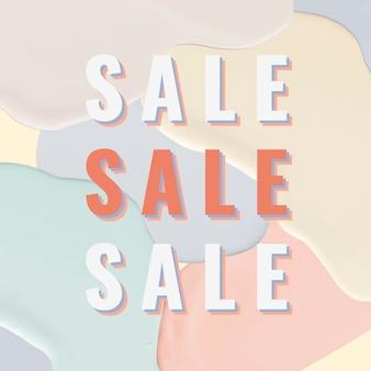 Fashion sale banner template pastel