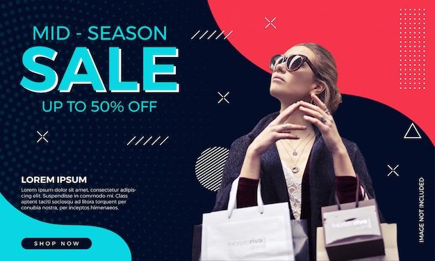 Fashion sale banner template