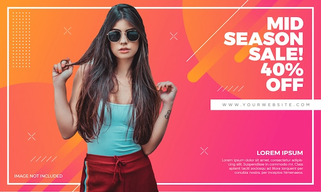Fashion sale banner template