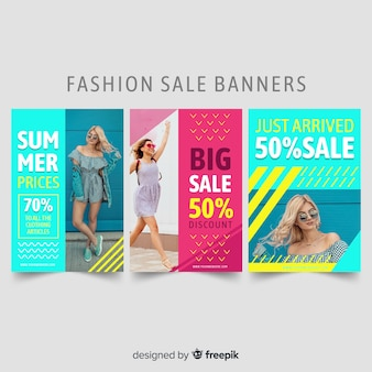 Fashion sale banners collection