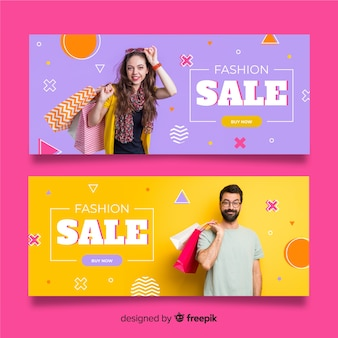 Fashion sale banners