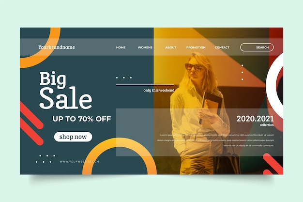 Fashion sale concept with discount