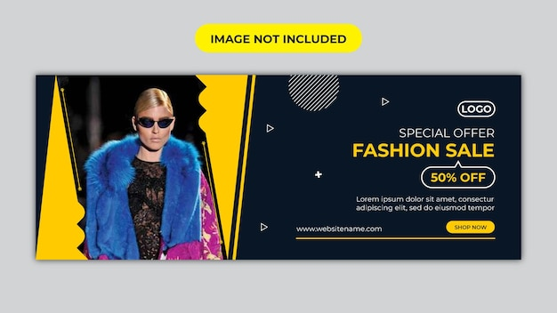 Fashion sale facebook cover and social media banner design