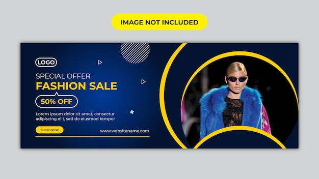 Fashion sale facebook cover and social media banner template 1