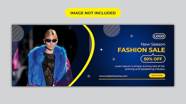Fashion sale facebook cover and social media banner template