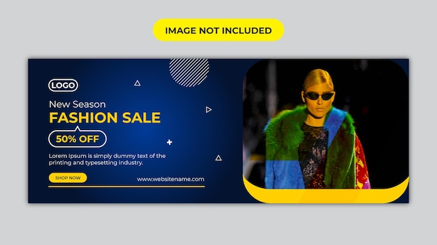 Fashion sale facebook cover and social media banner