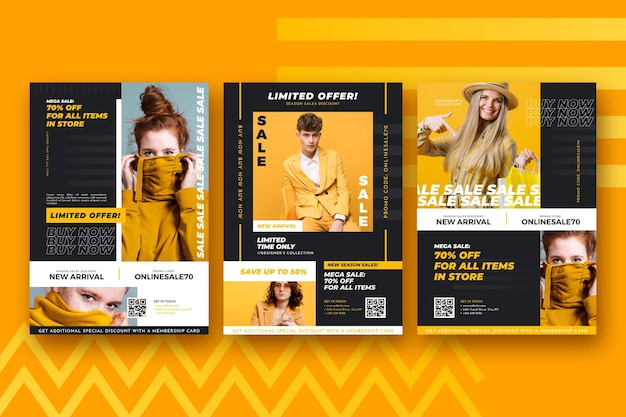 Fashion sale flyer collection template