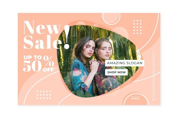Home page di vendita di moda