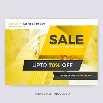Fashion sale horizontal flyer template