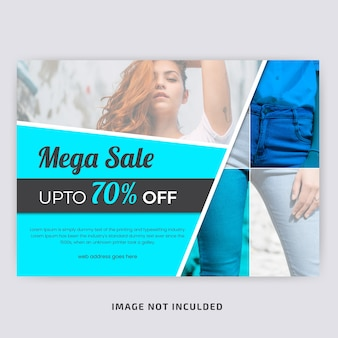 Fashion Sale Horizontal Flyer Template