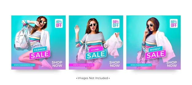 Шаблоны постов в instagram о модных распродажах