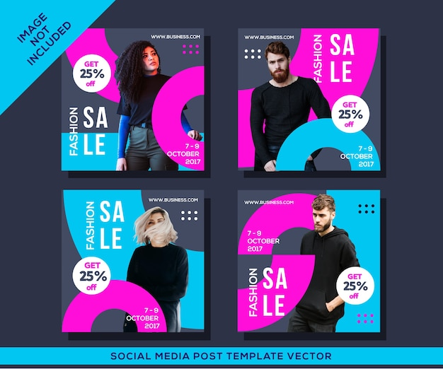 Fashion sale instagram social media post template