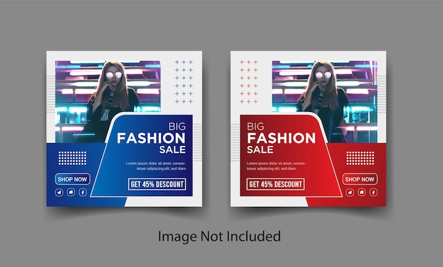 패션 세일 인스타그램 소셜 미디어 포스트