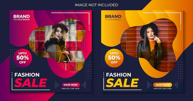 Fashion sale instagram social media template