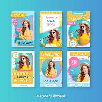 Fashion sale instagram stories collectio
