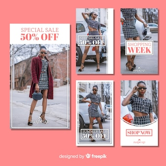 Fashion sale instagram stories collection