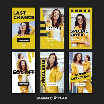 Fashion sale instagram stories templates