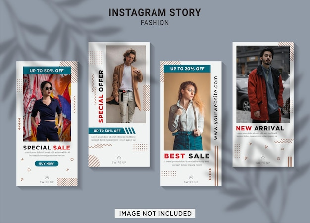 Fashion sale instagram story collection template Premium Vector
