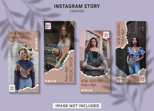 Fashion sale instagram story collection template