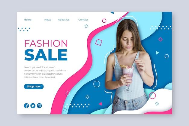 Fashion sale - landing page concept