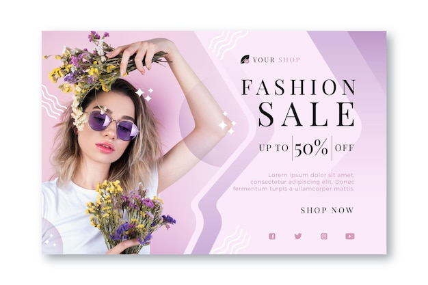 Fashion sale - landing page concept