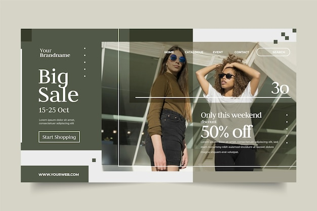 Fashion sale landing page design