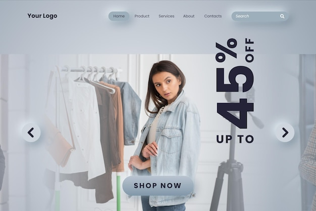 Fashion sale landing page template