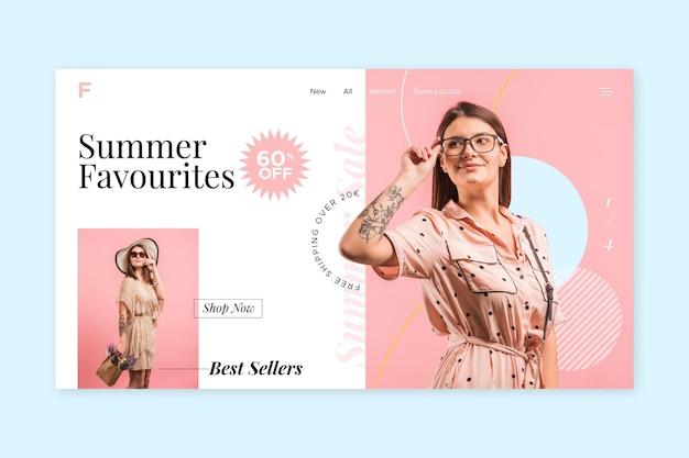 Fashion sale landing page template