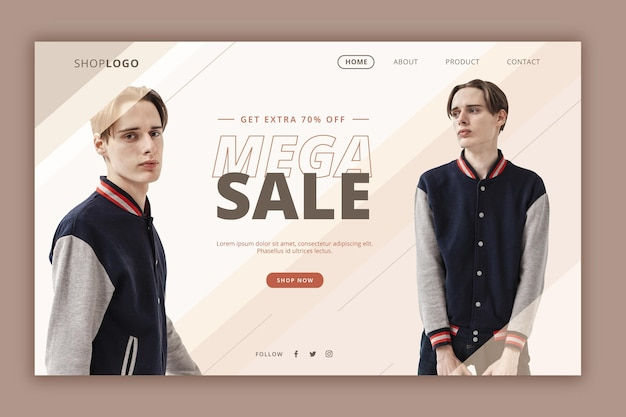 Fashion sale landing page webtemplate