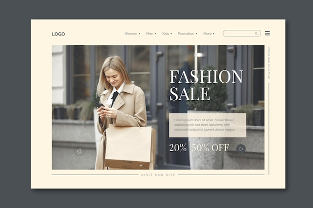 Fashion sale landing page