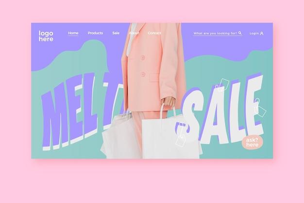 Fashion sale - landing page