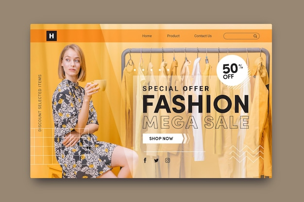 Fashion sale - целевая страница