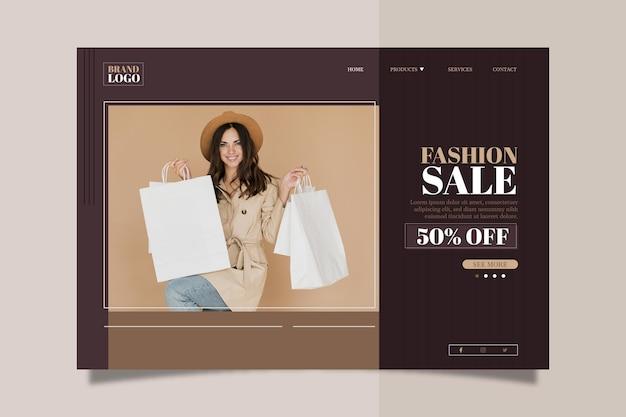 Fashion sale landing page