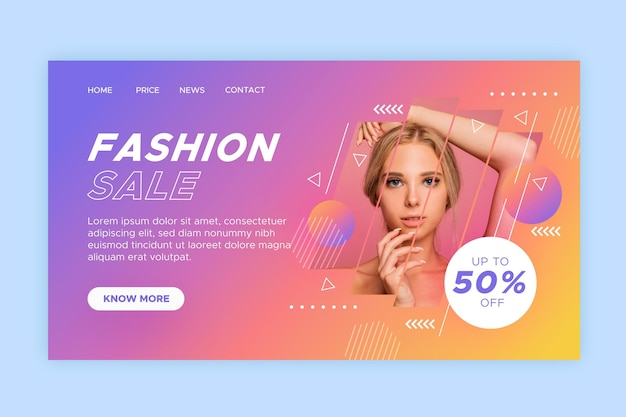 Fashion sale - landing page