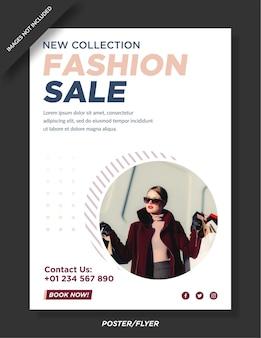 Fashion sale poster template design