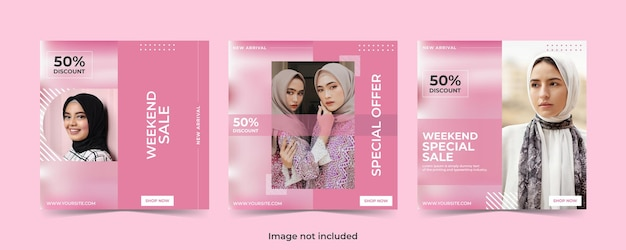 Fashion sale social media banner or instagram post template