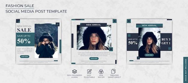 패션 판매 소셜 미디어 배너 게시물 템플릿 컬렉션