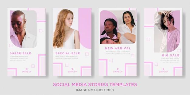 패션 판매 소셜 미디어 배너 템플릿