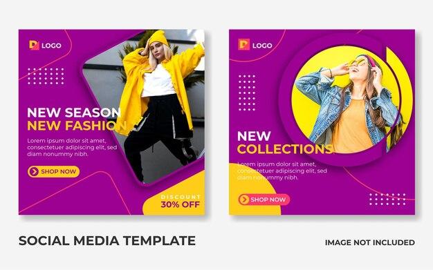 Fashion sale social media instagram post template