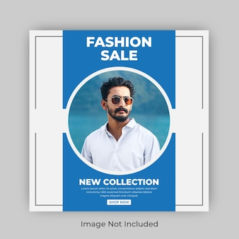 Fashion sale social media instagram square banner
