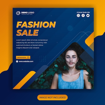 Шаблон поста в социальных сетях для продажи моды