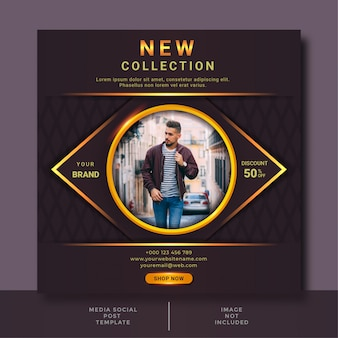Fashion sale social media post design template
