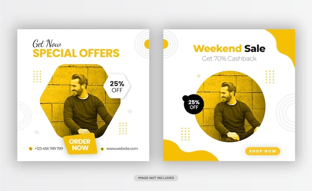 Fashion sale social media post and instagram post template design