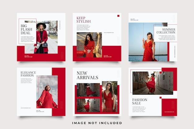 패션 판매 소셜 미디어 게시물 템플릿 모음
