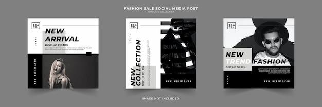 Сообщение о распродаже моды в социальных сетях