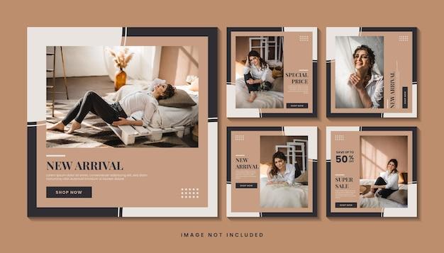 패션 판매 소셜 미디어 게시물 템플릿 컬렉션