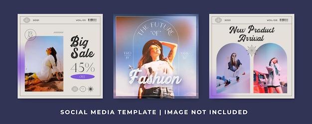 패션 판매 소셜 미디어 게시물 템플릿